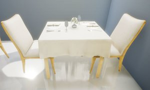 table restaurant 3D