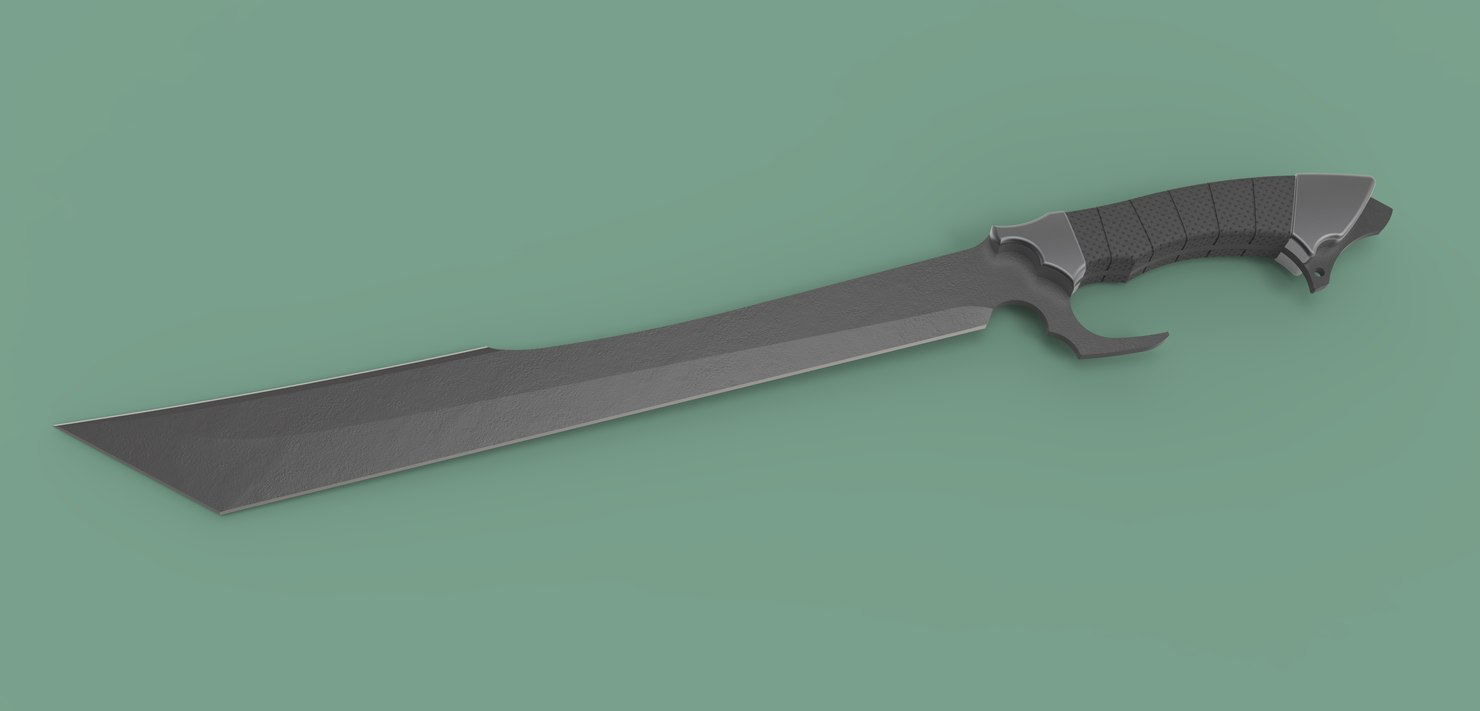 machete knife blade 3D model