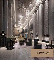 3D model lobby interior design