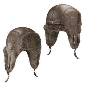 hat ear flap aviator 3D model