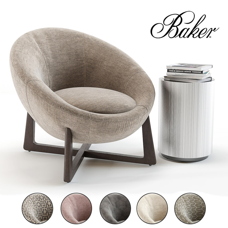 3D bakers pod lounge chair model