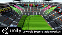 Low Poly Soccer Stadium Package