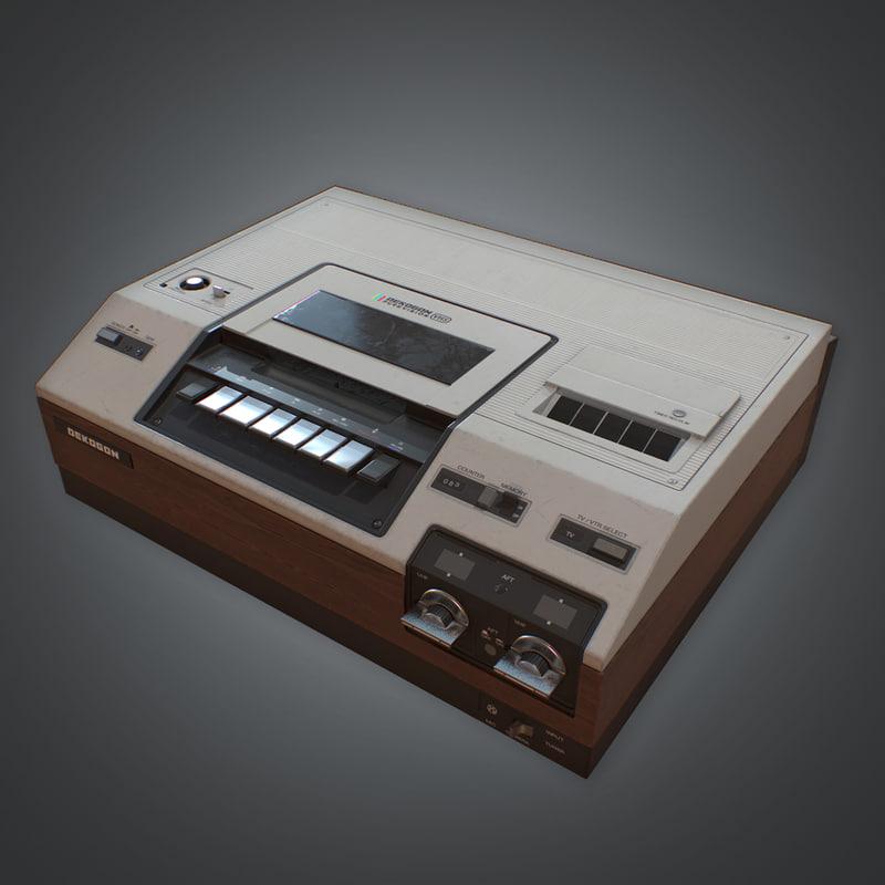 retro vcr player - 3D model