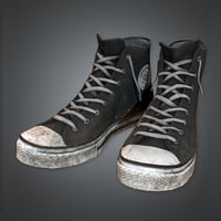 Black Street Shoes (80's) - PBR Game Ready
