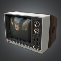 Television 03 Retro (80's) - PBR Game Ready