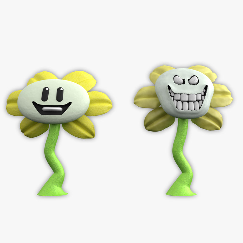 flowey undertale 3D model