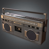 Boombox Retro (80's) - PBR Game Ready