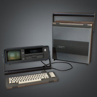 Portable Computer Retro 01 (80's) - PBR Game Ready