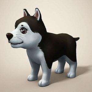 dog toon cartoon 3D model
