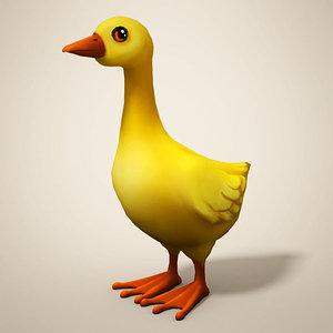 3D cartoon duckling duck