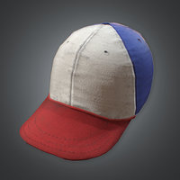 Baseball Cap (80's) - PBR Game Ready
