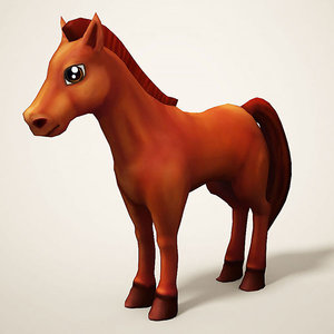 horse cartoon model