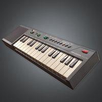 Electric Keyboard Instrument (80's) - PBR Game Ready