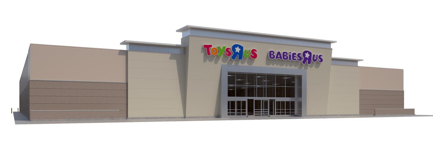 retail toys r babies 3D model