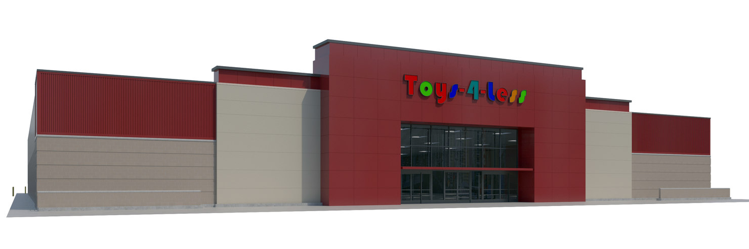 3D model retail store