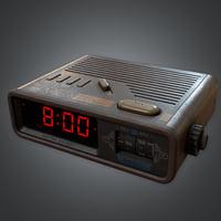 Alarm Clock 01 Retro (80's) - PBR Game Ready