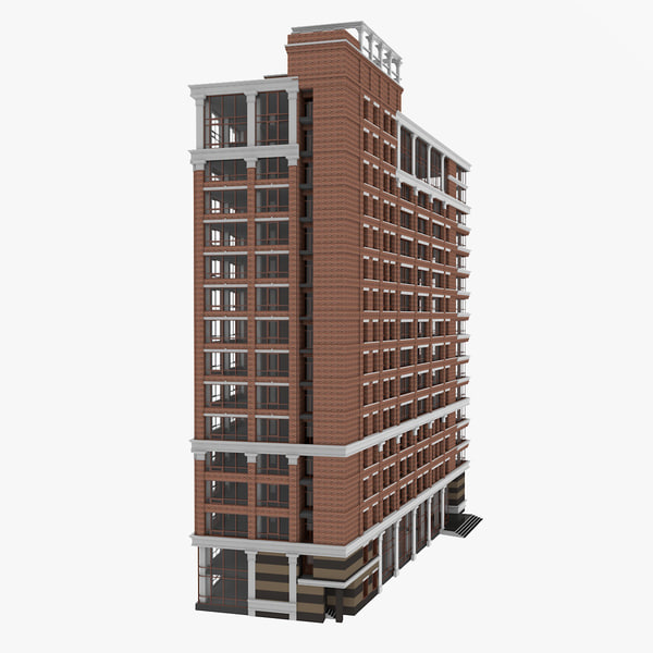 american office building 3D model