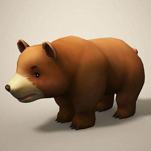 3D model cartoon bear toon
