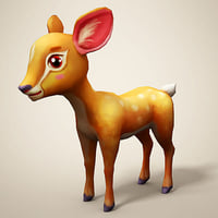 cartoon deer art 3D
