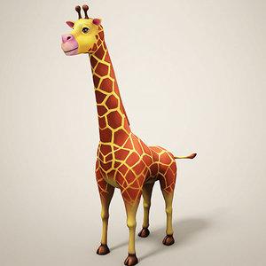 3D giraffe cartoon toon