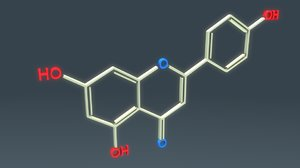 3D flavonoids chemically structure
