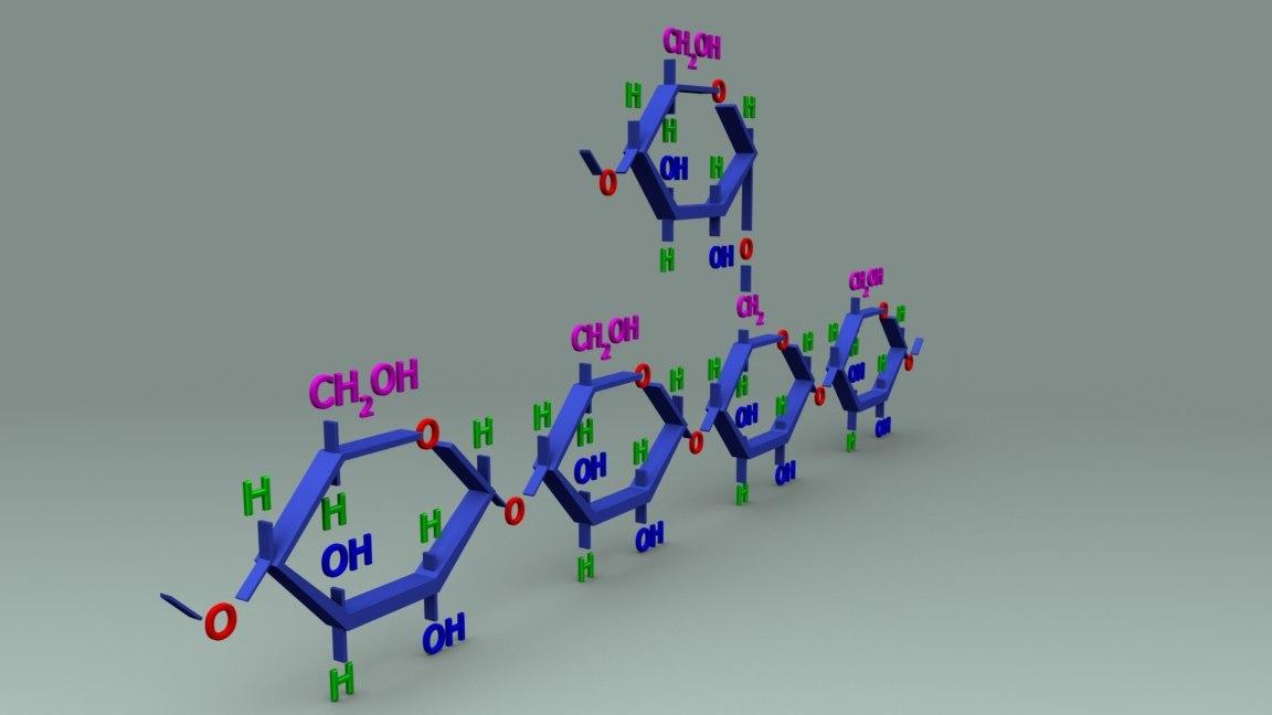 glycogen structure 3D model