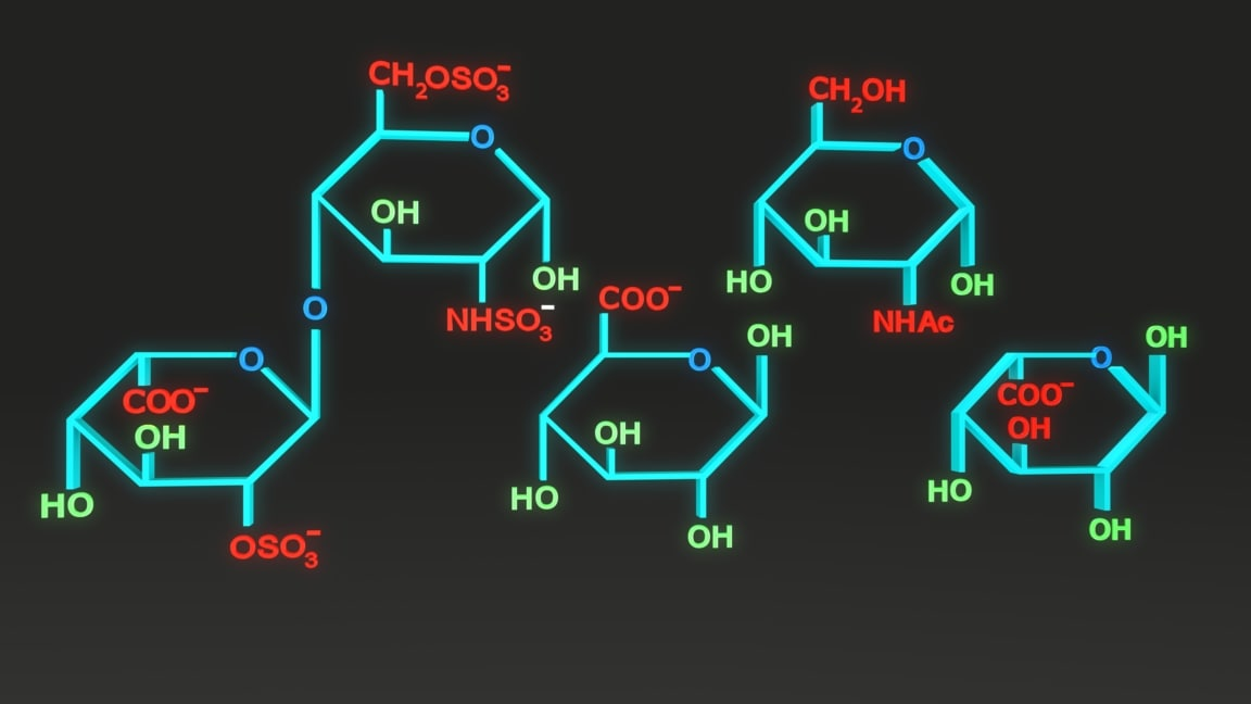 chemical structure heparin model