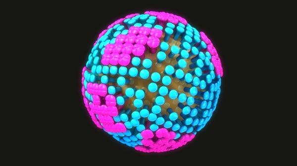 influenza flu 3D