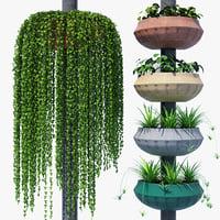 street flowerpot pot 3D model