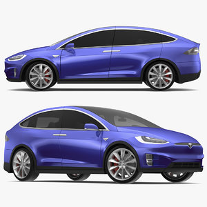 tesla x modeled s 3D