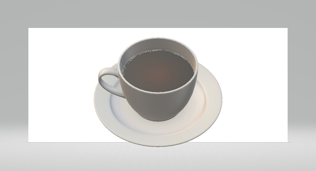 3D cup coffe