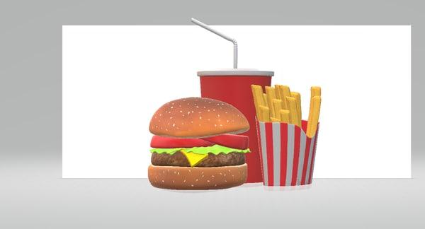 hamburger soda 3D