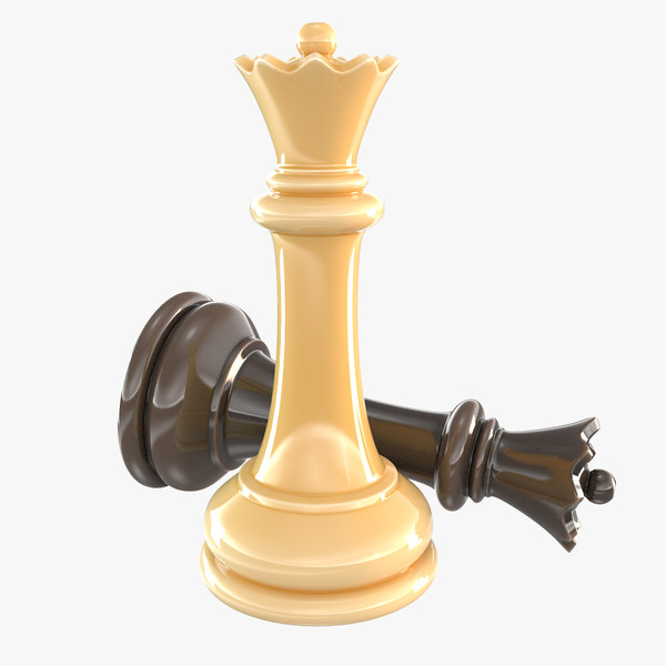 3D queen - chess piece model