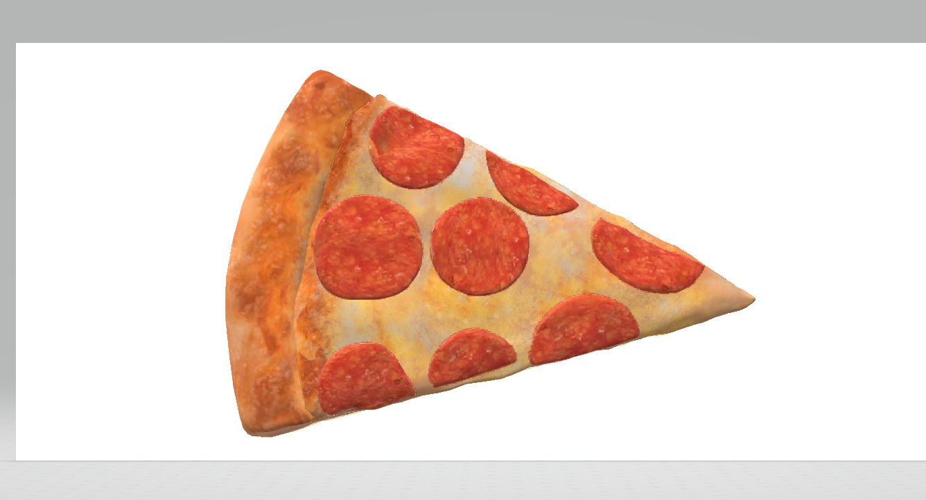 slice pizza 3D