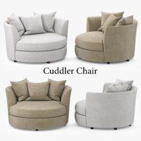 cuddler chair 3D model
