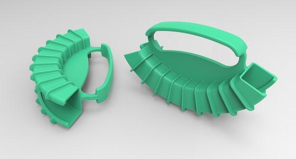 3D holder bottles model