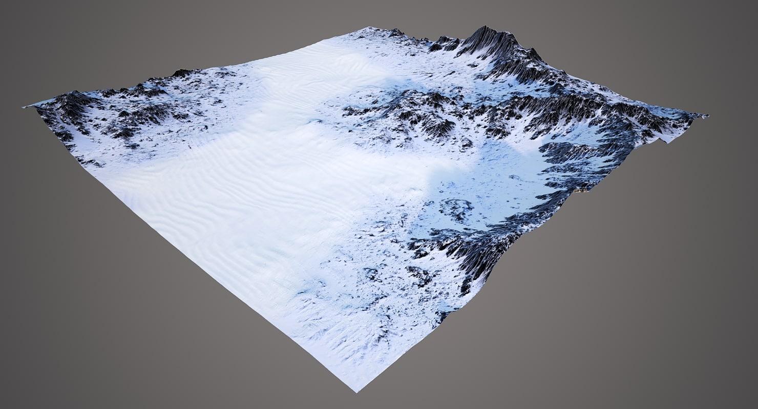 terrain 4 3D model