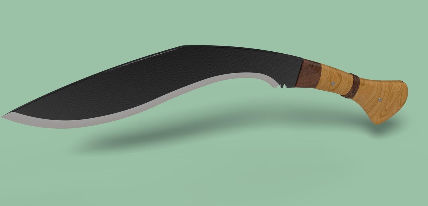 3D knife blade
