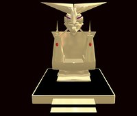 3D fantasy gold throne demon