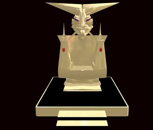 3D fantasy gold throne demon