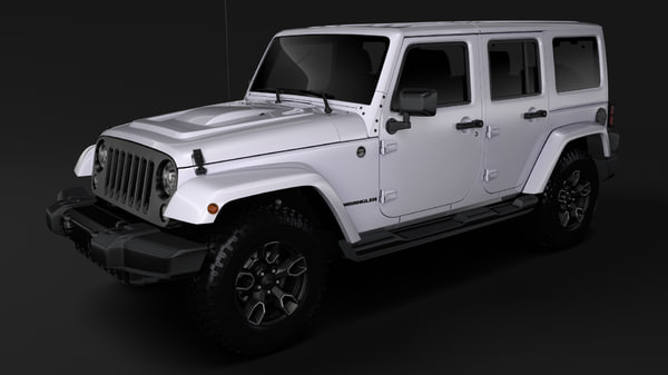3D jeep wrangler unlimited smoky model