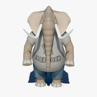 anthropomorphic cartoon elephant model