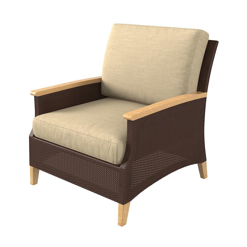 3D model wicker chair madeira