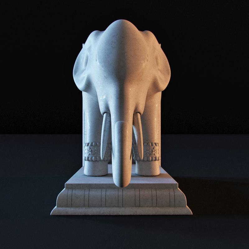 3D elephant interior decoration