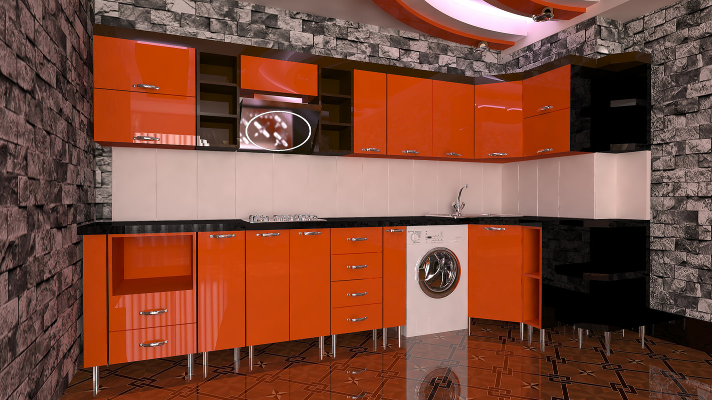 kitchen modern portagal 3D model
