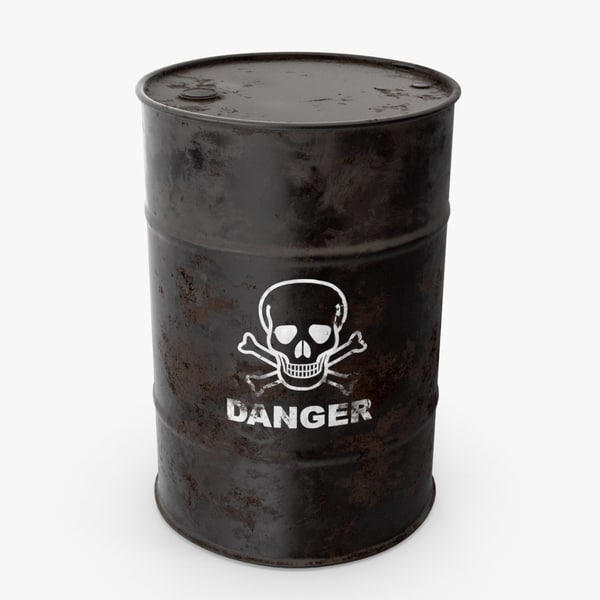 3D model black barrel