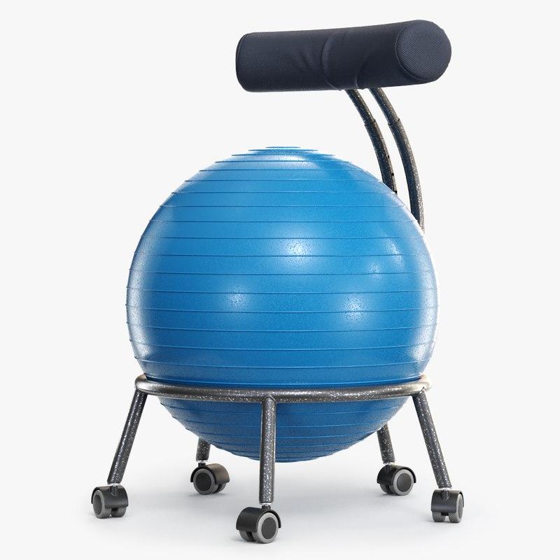 yoga ball office chair 3D model