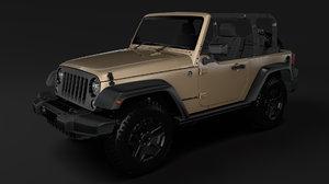 3D jeep wrangler willys wheeler