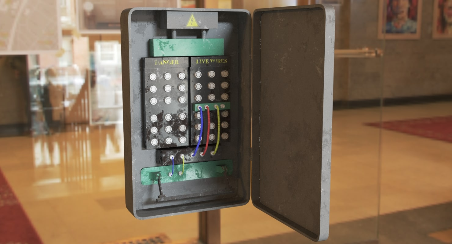 Fuse Box 3d Turbosquid 1238488 Electrical