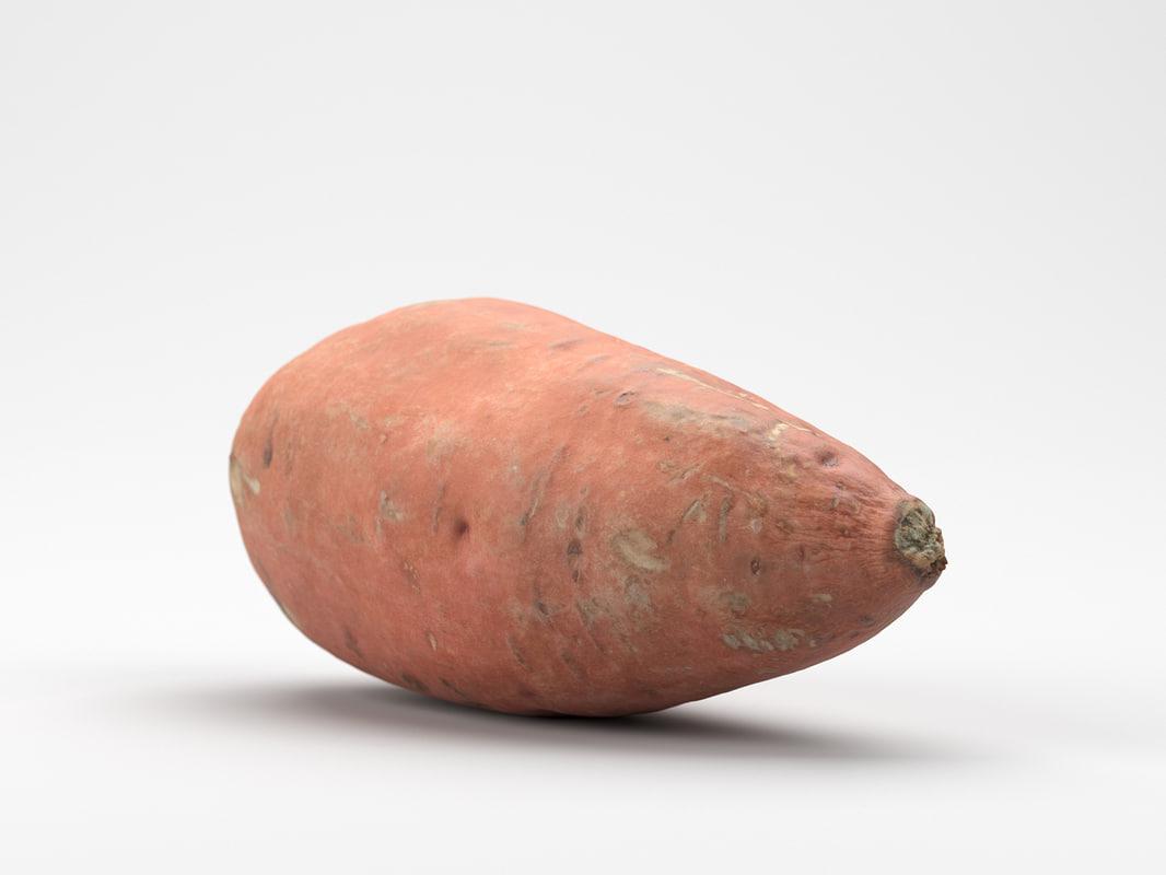3D photorealistic sweet potato